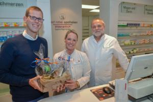 TROWISTA-Wirtschaftsförderer Fabian Wagner (links) mit Frau Dr. Kristina Meurer und Lothar Kürten.